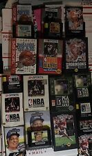 Sega Genesis CIB Lot Of 7 Unique Sports Games With Boxes, Manuals, And More