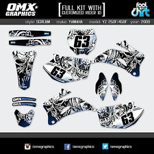 YAMAHA YZF 250 YZF 450 4-stroke decals graphics stickers kit 2009 Scream