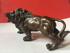 Chinese bronze African lion statues collection.16cm*8cm*7cm