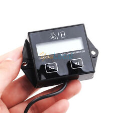 Digital Engine Tach Tachometer Hour Meter Inductive for ATV Generator Spark Plug