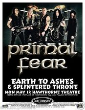 PRIMAL FEAR / EARTH TO ASHES/SPLINTERED THRONE 2014 PORTLAND CONCERT TOUR POSTER