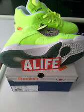 ALIFE X REEBOK BALL OUT COURT VICTORY PUMP DS 2014 NEON YELLOW FELT MEN'S SIZE 9