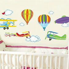 DIY Hot Air Balloon Airplane Cloud Removable Wall Sticker Mural Room Decor Decal