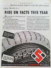 1934 Seiberling Air Cooled Tires Abraham Lincoln urged Motorists Ride on Fact Ad