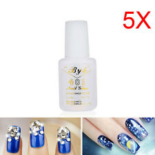 5 PCS 10g Nail Art BYB Strong Glue with BRUSH for Tips Decoration Set