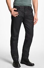 NWT HUDSON JEAN Sz32 DANDY STUDDED SLOUCHY STRAIGHT-STRETCH WAX DENIM BLACK TAR