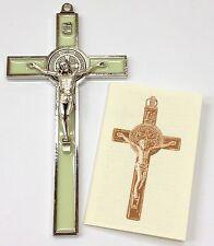 San Benito - Saint Benedict Cross Crucifix Enammelled Luminous/Glow in the dark