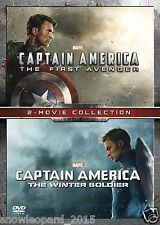 CAPTAIN AMERICA DVD SET PART 1 + 2 FIRST AVENGER WINTER SOLDIER ORIGINAL UK NEW