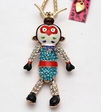 v44 # Betsey Johnson new Inlaid crystal of the beautiful monkey king personality