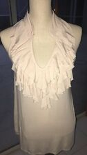 Bloomingdale's NU Collective Ruffles Tunic Top Soft Pink Beige