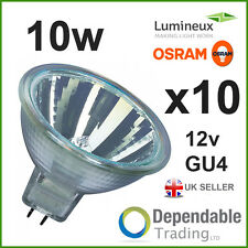 10 x BRANDED MR11 10w Halogen Spotlight / Lamp 12v - GU4 - 35mm - Light Bulb