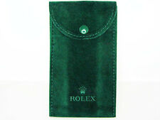 Brand New Genuine Rolex Dark Green Velvet Watch (Timepiece) Storage Pouch Bag