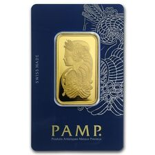1 oz Gold Bar Pamp Suisse Lady Fortuna In Assay Veriscan Package - SKU #88907