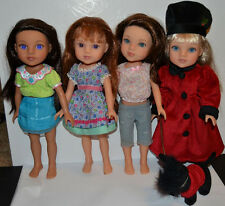 Hearts for Hearts Girls Playmates Doll Lot 4 Dolls Zelia Lilian Dell Some TLC
