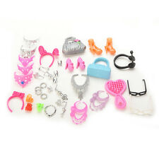Fashion Dolls Accessories For Barbie Dolls Outfit Dress Necklace Earings Hot
