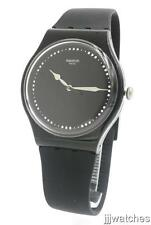 New Swatch Power Tracking Alcala Black Silicone Women Watch 42mm SUOB131 $75