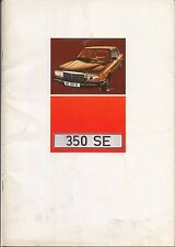 Mercedes Benz S Class 350 SE W116 1972-73 Original UK Sales Brochure No. WZ1479