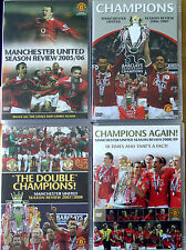 4 x Manchester United Season Review DVDs 2005/06 2006/07 2007/08 2008/09 Man Utd