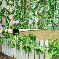 Künstliche Kunststoff-Blatt Efeu Girlande Pflanzen Rebelaub Home Blumen Decor