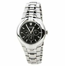 Casio Edifice EF304D-1A Mens Black Dial Stainless Steel Dress Watch 100M 3 Dials