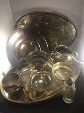 Job Lot Silver Plated Vintage Trays & Items