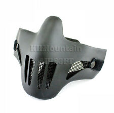 Dream Army Strike Steel Lower Face Mesh Mask /w Plastic Cover / BK (KHM Airsoft)