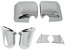 Jeep Wrangler 2007 + Pair Chromed Door Mirror Covers Wing Mirrors Accessories