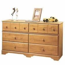 South Shore Little Treasures 6-Drawer Double Dresser, Country Pine