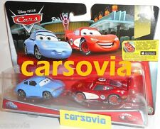 Radiator Springs Lightning MCQUEEN + SALLY - Disney Pixar Cars Mattel 2 vehicles