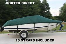 NEW VORTEX GREEN 19 FT / 19 FOOT HEAVY DUTY FISH/SKI/RUNABOUT BOAT COVER