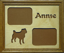 8x10 Pet's Name & Breed Silhouette Photo Mat - 2 photos