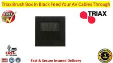 Triax Black Snap Brush Box Feed Your AV Cables Through