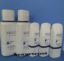 Obagi Nu-Derm Kit Foaming Gel + Toner + Clear fx + Exfoderm Forte + Blender fx