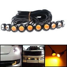 10x 9W LED Eagle Eye Light DRL Daytime Reverse Backup Brake Signal Yellow Amber
