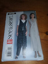 Butterick See & Sew 4109 paper sewing pattern. New and Uncut  8-10 Trousers +