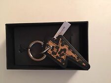 COACH Keychain Leopard Thunderbolt Keychain in Gift Box F64579 MSRP $50! NWT