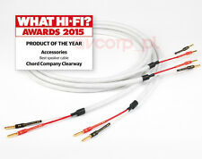 Original Chord Clearway on bananas - 3m pair - Best s.cable of the Year 2015!