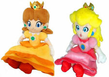 "New Super Mario Plush -7"" Princess Peach & Daisy Soft Stuffed Plush Toy"