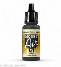 Vallejo Model Air NATO Black 71.251 - 17ml Acrylic Airbrush Ready Paint