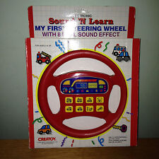 Rare Electronic SOUND N LEARN My First Steering Wheel 8 Sound Effects CREATOY