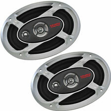 "Crunch Car Audio P1-693 6""x9"" 3 Way Coaxial Speakers 1 Pair inc grilles"
