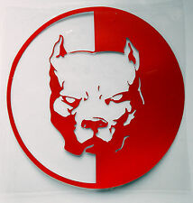 Sticker Decal Auto-Aufkleber - Kampfhund Bulldog Pitbull - Car-Styling