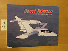 MAG BACK ISSUE SPORT AVIATION JAN 1997 VG COND EAA