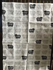 KLIPPAN SHEEP Tea Towel- Cotton & Linen- Brand New Cream Gray  Black