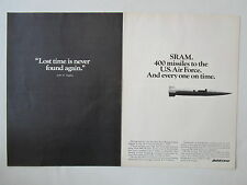 6/1973 PUB BOEING CRUISE MISSILE SRAM SHORT RANGE ATTACK MISSILE US AIR FORCE AD