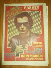 RECORD MIRROR JUNE 21 1980 ROD STEWART LINDA MCCARTNEY IRON MAIDEN POSTER QUEEN