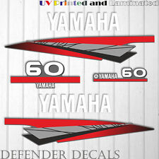 Yamaha 60 HP Two 2 Stroke outboard engine sticker decal kit reproduction 60HP