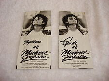 Michael Jackson 2 Perfume Samples Official 1989 Triumph International Mega Rare