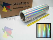 "12"" X 10ft - Silver Holographic -*LVG InterCal*- Craft & Hobby Vinyl Film"