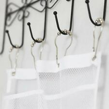 Mesh Bathroom Shower Organizer Hanging 6 Pocket Hanger Storage Caddy With 4 Hook